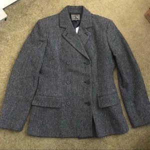 Gray Tweed Calvin Klein Peacoat